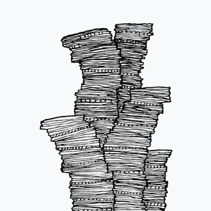 Graphic: stack of coins